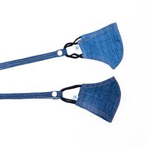 skarabea - Mund-Nasen-Maske 2er Pack - Jeans Upcycling - skarabea