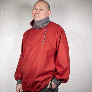 Lodenhemd mit Stehkragen und Reißverschluß - nahtur-design
