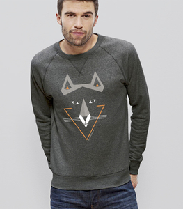Sweater Men Steel Heather Grey 'Sam Fux' - SILBERFISCHER