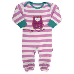 Schlafanzug EULE rosa GOTS - Kite Kids