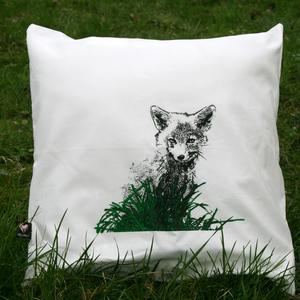 Bio-Kissenbezug 'Junger Fuchs' natur - Hirschkind