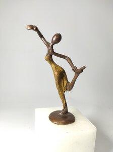 "Bronze-Skulptur ""Femme du Burkina"" verschiedene Modelle - 16 cm hoch - Moogoo Creative Africa"