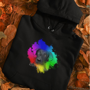 """Organic Unisex Hoodie """"Adopt don´t shop"""" - BVeganly"""