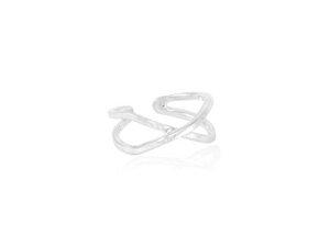 Ring Silber buchstabe X minimalistisch elegant handmade Fair-Trade - pakilia