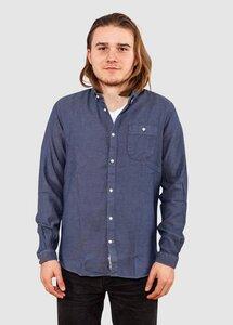 Indigo Shirt Heavy Weaving Total Eclipse - KnowledgeCotton Apparel
