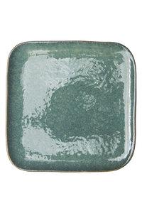Frühstücksteller Industrial aus Steinzeug mit reaktiver Glasur, 21 cm - TRANQUILLO