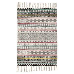 Teppich GoodWeave® zertifiziert mit Muster und Quasten, 60 x 90 - TRANQUILLO