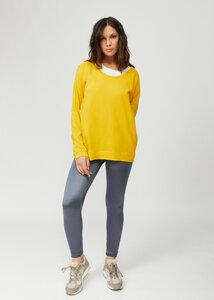 Mirella Damen Rundhals-Neck Langarm T-Shirt / Over-tee aus Bio Baumwolle - d'Els chic essential