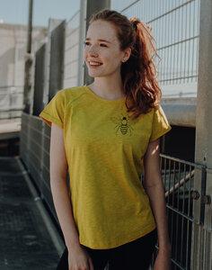 Damen Raglan Slub Shirt mit Biene aus Biobaumwolle Hergestellt in Portugal - ilovemixtapes