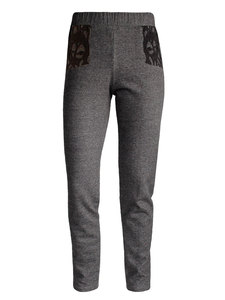 FRIDA LACE Sweat Pant- schwarz meliert - woodlike