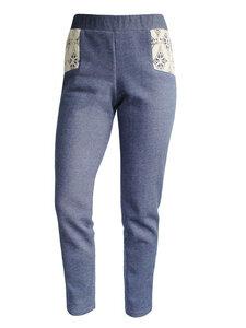 JASMINE Sweat Pant - blau meliert - woodlike