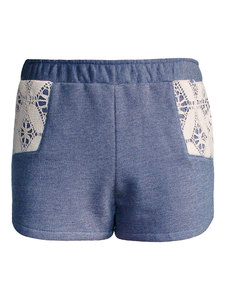 Woodlike Sweat Short - blau meliert - woodlike