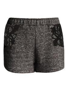 SPECKLED LOVERS Sweat Shorts - schwarz meliert - woodlike