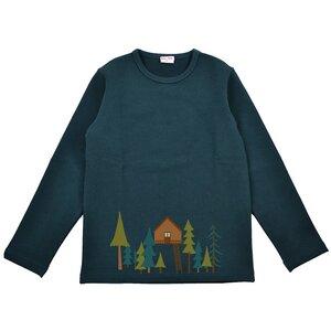 Langarm Shirt Baumhaus dunkelgrün - Baba Babywear