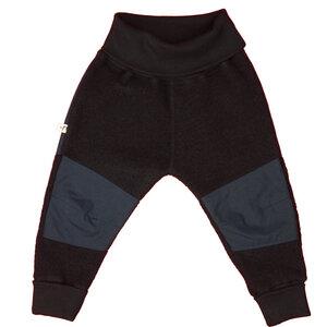 Hose aus Bio-Wolle, mit wasserabweisenden Patches ohne Polyester, Fb. black - vonpfauhausen