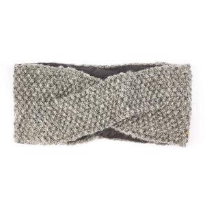 Schurwollstirnband crisscross mit Knotenmuster, handgestrickt - short'n'pietz