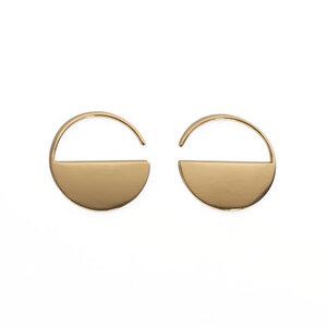 Ohrringe Mirror Hoops Petit - Goldmarlen