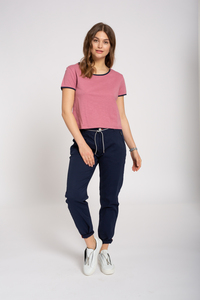 Gestreiftes Damen T-Shirt aus Bio Baumwolle | Boxy T-Shirt - recolution