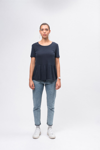 Tencel Peplum T-Shirt - recolution