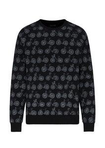Herren Raglan Sweatshirt #BIKES aus Bio Baumwolle schwarz - recolution