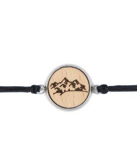 Holzarmband, Buchenholz und Edelstahl, verschiedene Motive - Schmuckfach