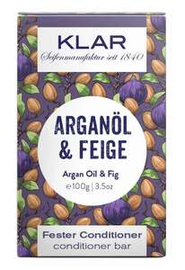 Klar fester Conditioner Arganöl & Feige für trockenes Haar - Klar Seifen