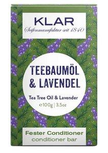 Klar fester Conditioner Teebaumöl & Lavendel gegen Schuppen - Klar Seifen