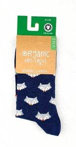 """GOTS zertifizierte Bio Baumwolle Socken mit """"Fuchs Print"""" - VNS Organic Socks"""