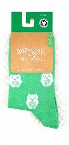 "GOTS zertifizierte Biobaumwolle Socken mit Eulen "" Print "" - VNS Organic Socks"