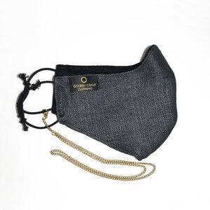 Wendbare Mund-Nasen-Maske aus Leinen - Golden Circle Clothing