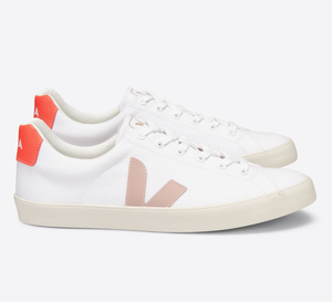 Sneaker Damen Vegan - Esplar SE Canvas - White Babe Orange Fluo - Veja