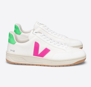 Sneaker Damen Vegan - V-12 B-Mesh - White Sari Absinthe - Veja