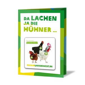 Gackernde Hühner - originelle Grußkarte - OxfamUnverpackt