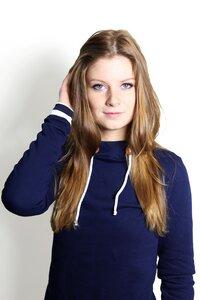 Bio Hoodie 'Marize' dunkelblau/ gestreift - Frija Omina