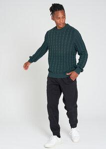 Herren Strickpullover aus Bio Baumwolle   Crew Neck #CABLE - recolution