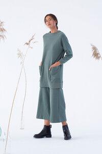 Culotte Hose aus Bio Baumwolle - Unnan Laurel - Grün - Suite 13