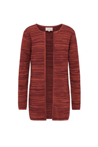 Damen Strickjacke aus Bio Baumwolle | Rib Knit Cardigan #FLECKED - recolution