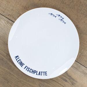Porzellanteller Kleine Fischplatte - Bow & Hummingbird