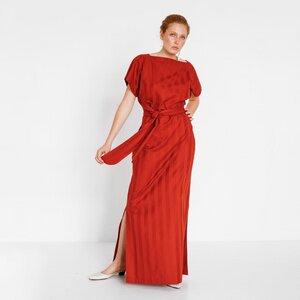 Langes Abendkleid aus roter Bio-Baumwolle - Natascha von Hirschhausen