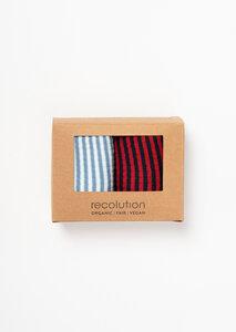 Gestreiftes 2er Socken Set aus Bio Baumwolle | Socken Set #STRIPES - recolution