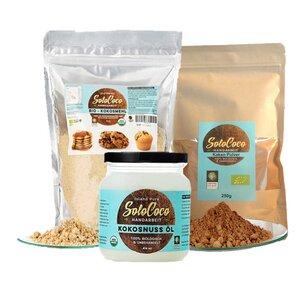 Probierpaket: Kokosöl, -mehl & Kakaopulver  - SoloCoco