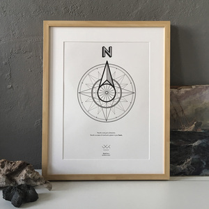 The North, A3 Letterpress Print - Waterkoog