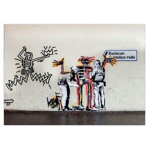 Banksy Bild Human Control Wandbilder Wohnzimmer - Kunstbruder