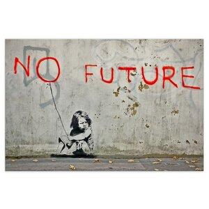 Banksy Bild No Future Wandbilder Wohnzimmer - Kunstbruder