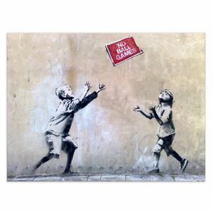 Wanfdbild Banksy No Ball Games Bilder Wohnzimmer - Kunstbruder