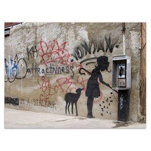 Wandbild Banksy Telefonzelle Bilder Wohnzimmer - Kunstbruder