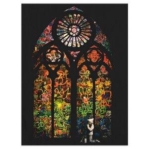 Wandbild Banksy Church Bilder Wohnzimmer - Kunstbruder