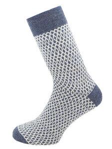 Damen und Herren Feinstrick-Socken Wave Bio-Schurwolle - hirsch natur