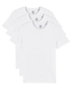 """3er Pack Herren T-Shirt aus Bio-Baumwolle """"Charlie"""", Weiß und Schwarz - University of Soul"""