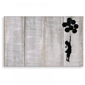 Wandbild Banksy Bolloon Girl Bilder Wohnzimmer - Kunstbruder